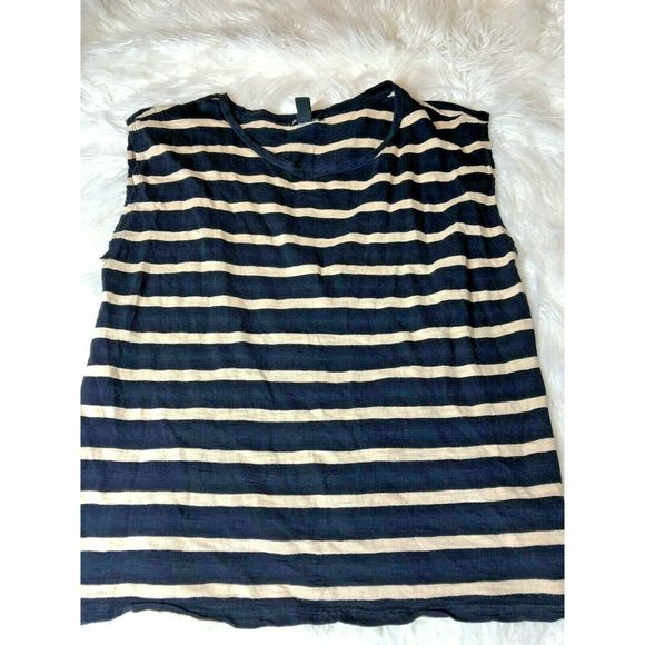 Forever 21  Striped Crop Top Size M